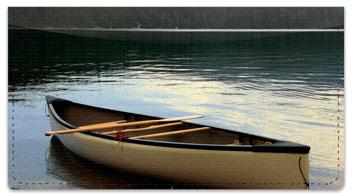 Canoe Checkbook Cover