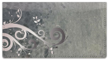 Grungy Scroll Checkbook Cover
