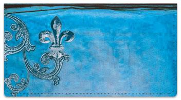 Iron Fleur de Lis Checkbook Cover
