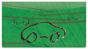 Car Sketch Checkbook Cover