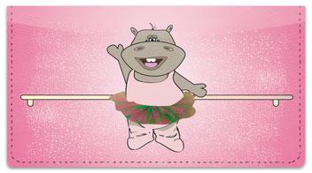 Happy Hippo Checkbook Cover