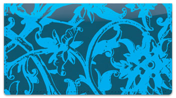 Iron Floral Checkbook Cover