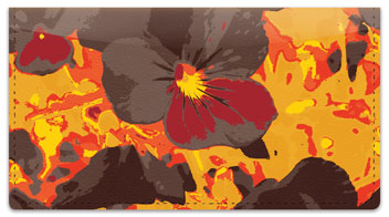 Pansy Checkbook Cover