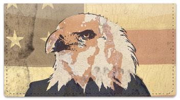 Patriotic Eagle Checkbook Cover