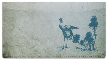 Japanese Bird Art Checkbook Cover