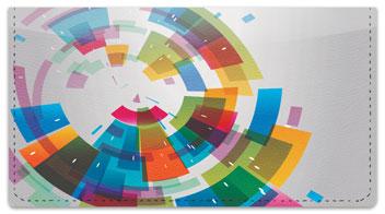 Color Wheel Checkbook Cover