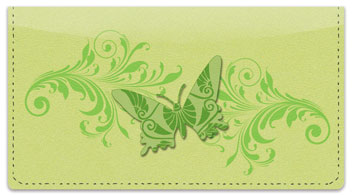 Butterfly Print Checkbook Cover