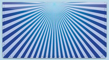 Blue Starburst Checkbook Cover