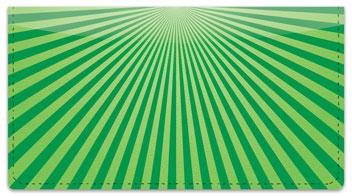 Green Starburst Checkbook Cover