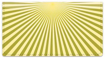 Yellow Starburst Checkbook Cover