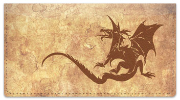 Chinese Dragon Checkbook Cover