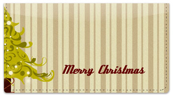 Christmas Tree Checkbook Cover