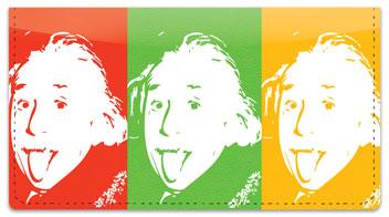 Albert Einstein Checkbook Cover