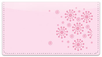 Pink Burst Checkbook Cover