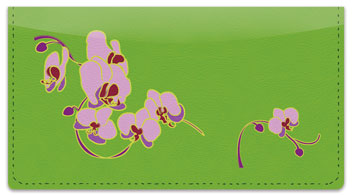 Orchid Print Checkbook Cover