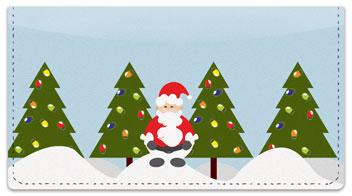 Santa Claus Checkbook Cover
