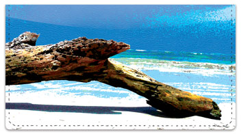 Driftwood Checkbook Cover