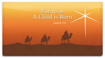 Nativity Scene Checkbook Cover