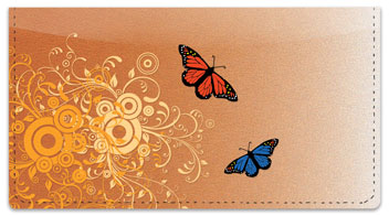 Butterfly Scroll Checkbook Cover