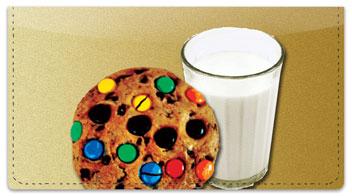 Milk & Cookie Checkbook Cover