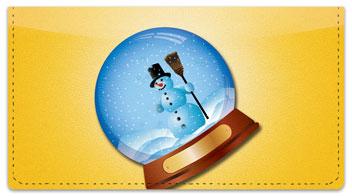 Snow Globe Checkbook Cover