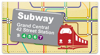 New York Subway Checkbook Cover