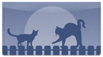 Cat Nightlife Checkbook Cover
