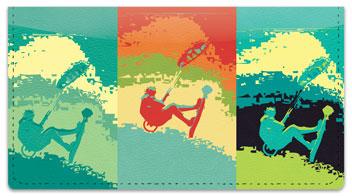 Kite Surfing Checkbook Cover