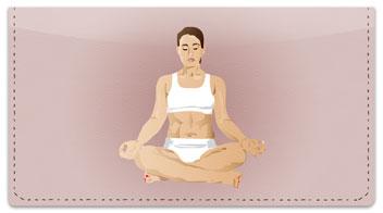 Yoga Pose Checkbook Cover