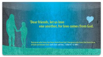 God's Love Checkbook Cover