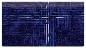 Techno Matrix Checkbook Cover