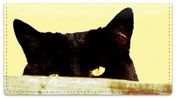Sleepy Cat Checkbook Cover