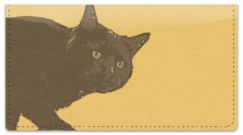 Black Cat Checkbook Cover