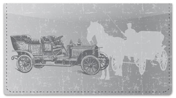 Antique Automobile Checkbook Cover