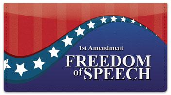 Bill of Rights Checkbook Cover