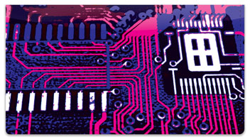 Motherboard Checkbook Cover