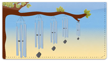 Wind Chime Checkbook Cover
