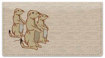 Prairie Dog Checkbook Cover
