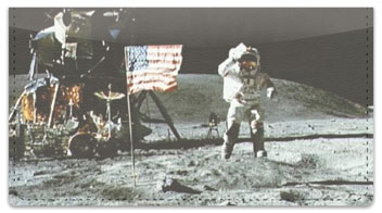 Moon Landing Checkbook Cover