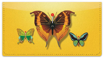 Butterfly Collection Checkbook Cover