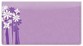 Daisy Silhouette Checkbook Cover