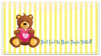 Cuddly Teddy Bear Checkbook Cover