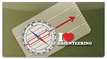 Orienteering Checkbook Cover
