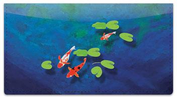 Koi Fish Checkbook Cover
