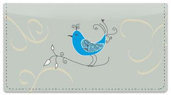 Whimsical Bird Checkbook Cover