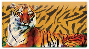 Tiger Checkbook Cover