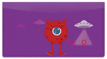 Martian Monster Checkbook Cover