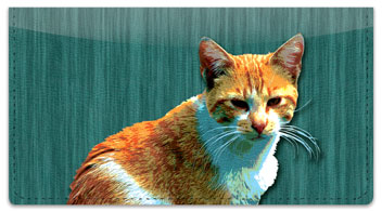 Alley Cat Checkbook Cover
