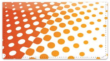 Halftone Checkbook Cover