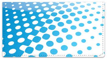 Blue Halftone Checkbook Cover